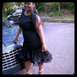 Plus size Formal black mermaid gown